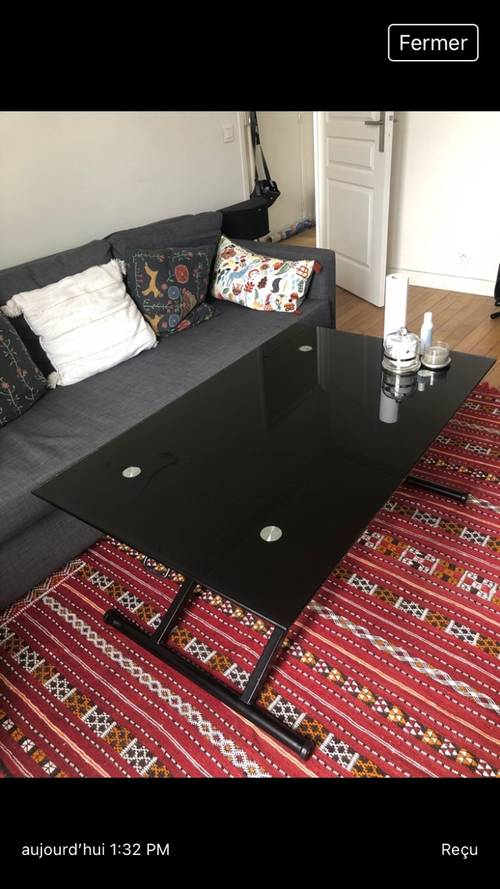 Table up and down relevable