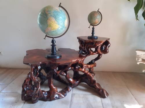 Table basse en teck organique
