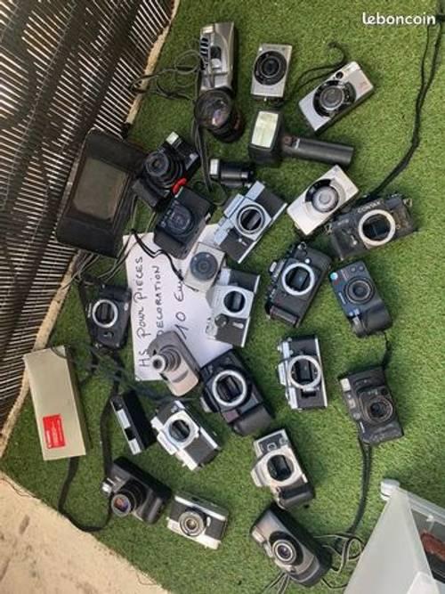 Vends lot d'appareils photos pour pièces ou décoration