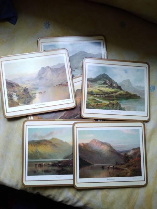 Vends 6sets de table paysages anglais