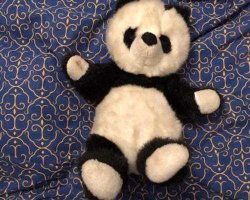 Vends Panda en peluche blanc et noir