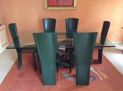 Vends superbe table en verre Roche Bobois