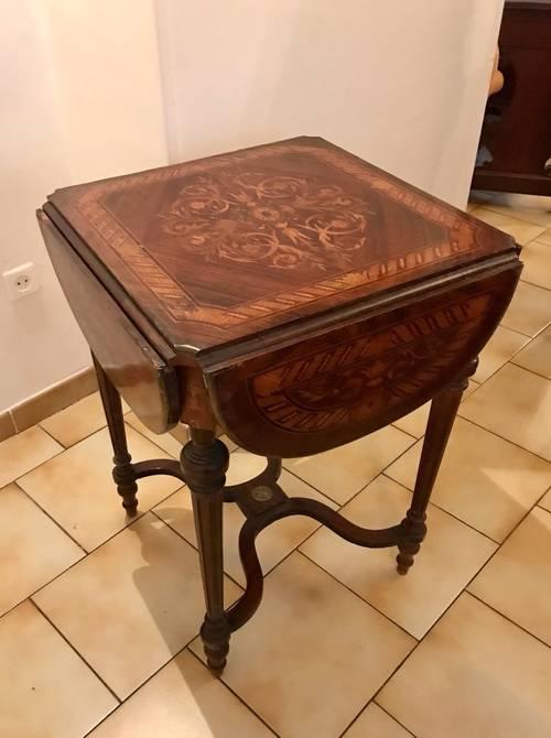 Superbe table de jeux époque Napoléon III