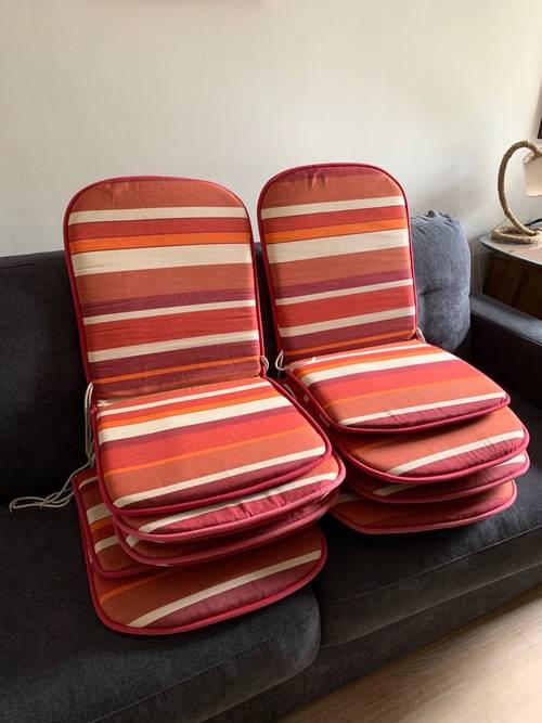Cousins/dossiers pour chaises de jardin