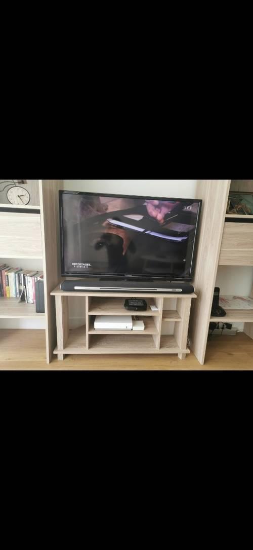 Vends meuble télé en bois