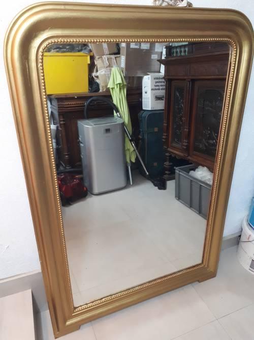 Très grand miroir ancien haussmannien 140x095