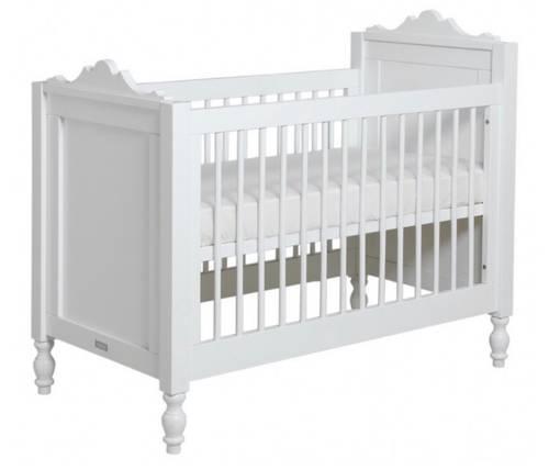 Lit bébé neuf blanc laqué