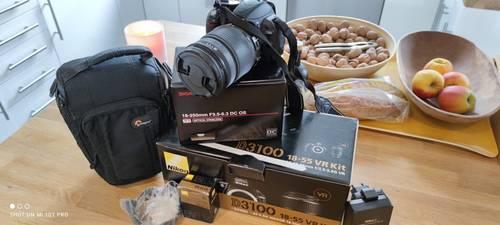 Reflex Nikon D310018-55+ objectif Sigma 18-250+ carte 16Go et plus
