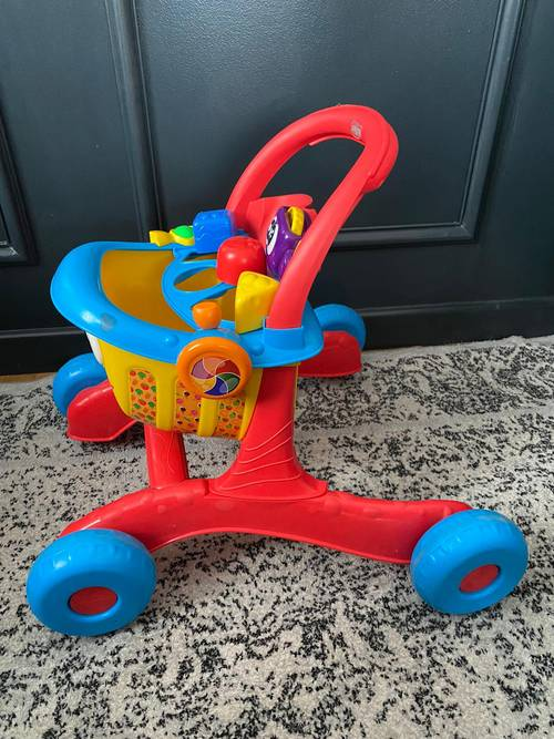 Trotteur caddie courses enfant
