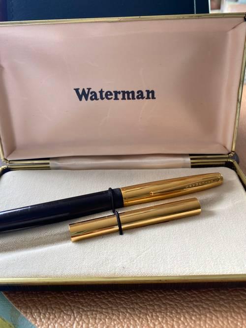 Stylo Waterman vintage à plume or