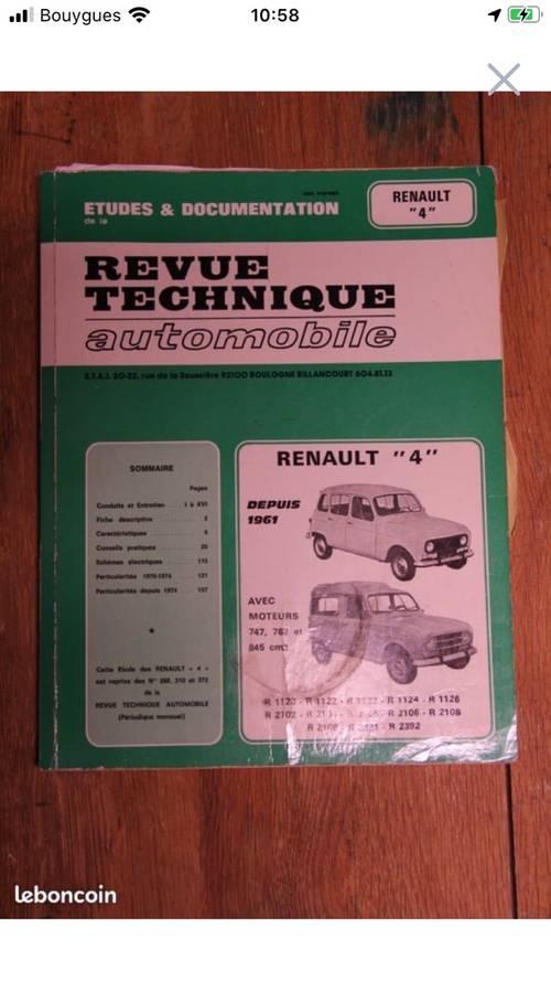 Revue technique Renault 4