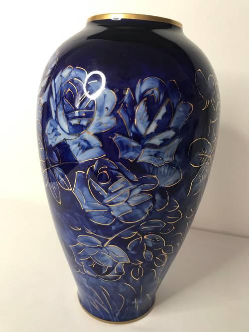 Ancien vase porcelaine Limoges Marcel Chaufriassse début XXème