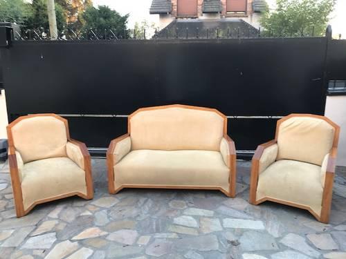 Vends ensemble canapé + 2x fauteuils Art Deco