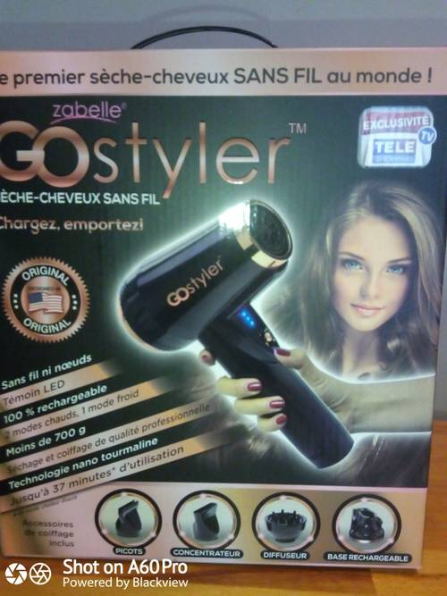 Sèche cheveux rechargeable Gostyler