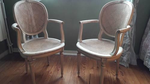 Paire de fauteuil cannelés