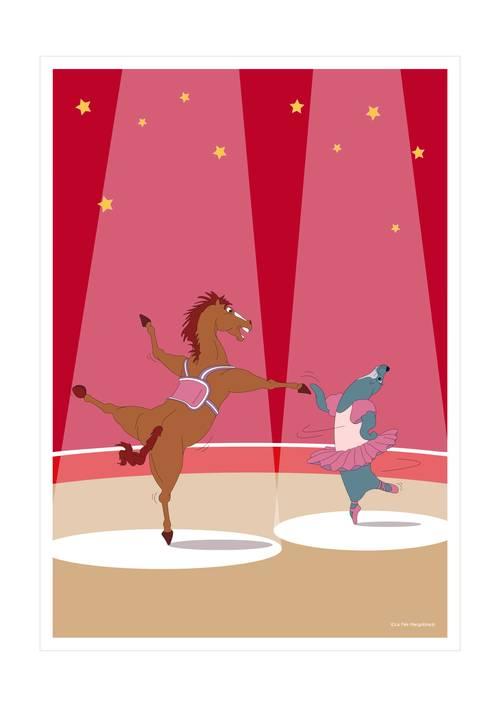 Affiche duo de danseurs - 21x29.7cm