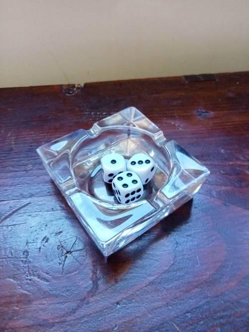 Cendrier en cristal JG Durand