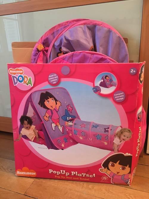 Tente de jeu avec tunnel Dora