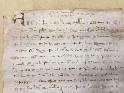 Manuscrit sur parchemin