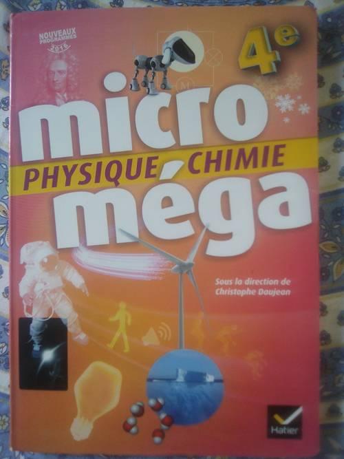 Vends livre Microméga-Physique chimie