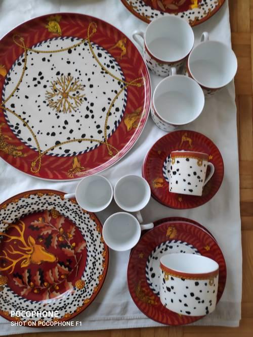 Service à gâteaux, thé et café