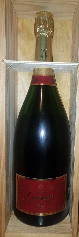 Magnum de champagne exceptionnel cuvée Cartier