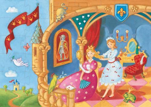 Puzzle la princesse et la grenouille (bon état)