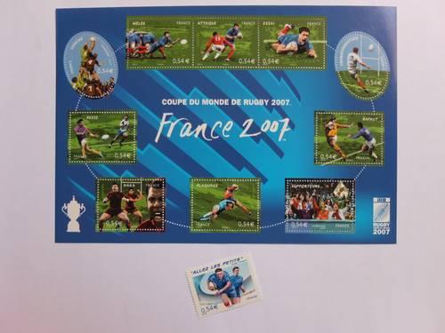 """Timbres """"Coupe du monde de rugby 2007"""""""
