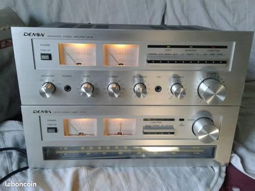 Ampli et tuner Denon vintage
