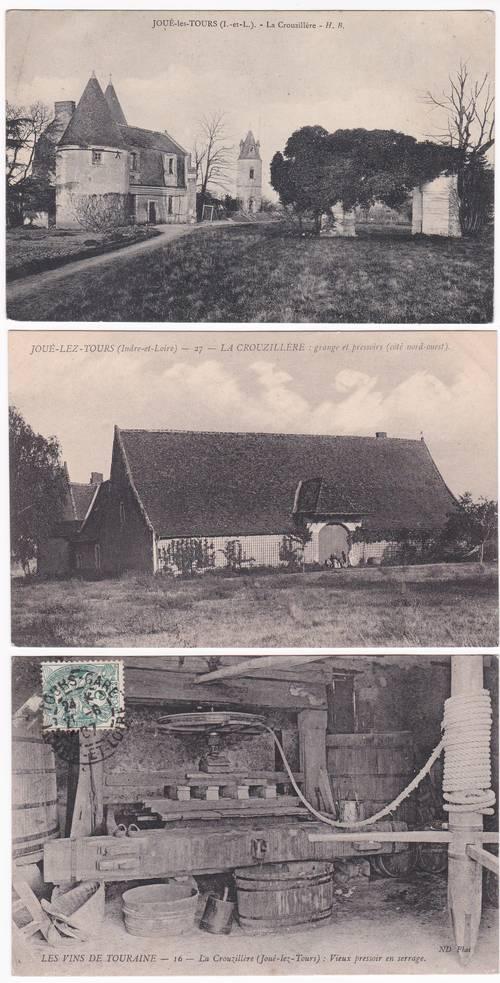 Carte postale Joué les Tours La Crouzillière pressoir et communs
