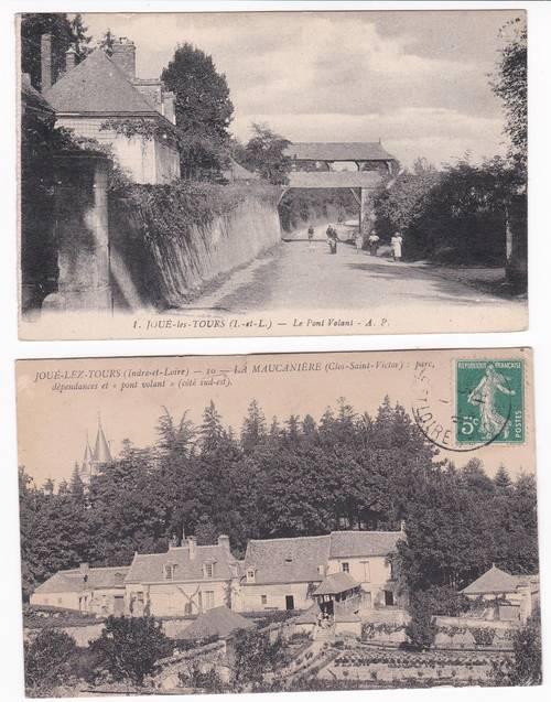 Carte postale Joué les Tours Maucanière pont volant