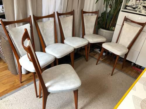Vends 6chaises de salle à manger de 1950Style scandinave restaurées