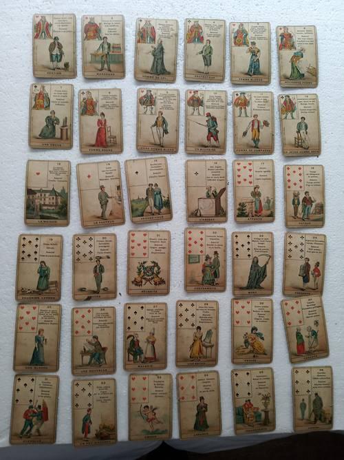 Jeu de cartes divinatoire ancien