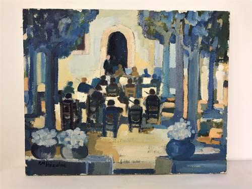 Heaulme (Renée Mireille), huile sur toile L'orchestre XXème