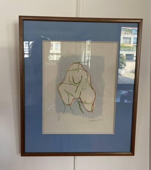 Vends lithographie signée Bourlaine