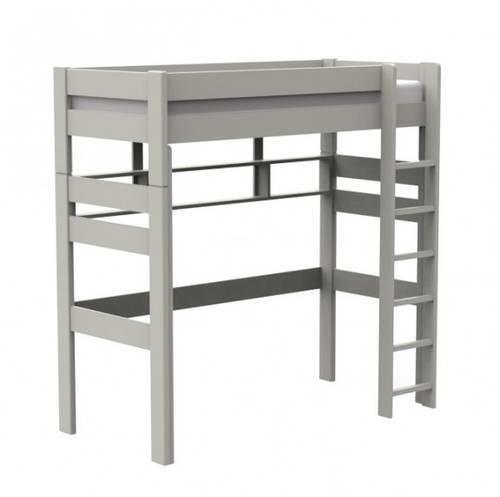 Lit mezzanine Enfants Ados couleur blanc/bleu gris