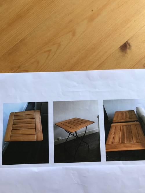 Vends tables