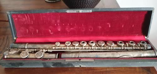 Flûte traversière métal argenté