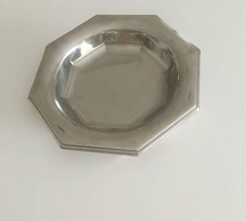 Coupelle vide poche en métal argenté
