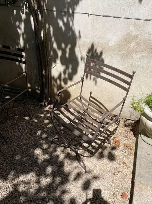 Vends lots de 6chaises de jardin