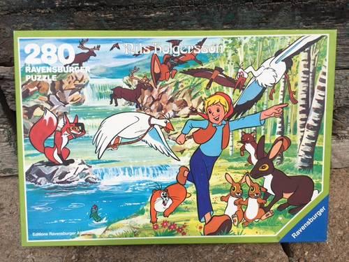 Vends puzzle Niels Holgersson - 280pièces Vintage, complet