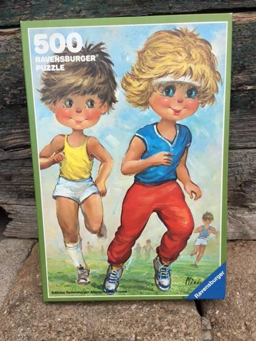 """Vends puzzle 500pièces """"Jogging"""" Série Michel Thomas, excellent état"""