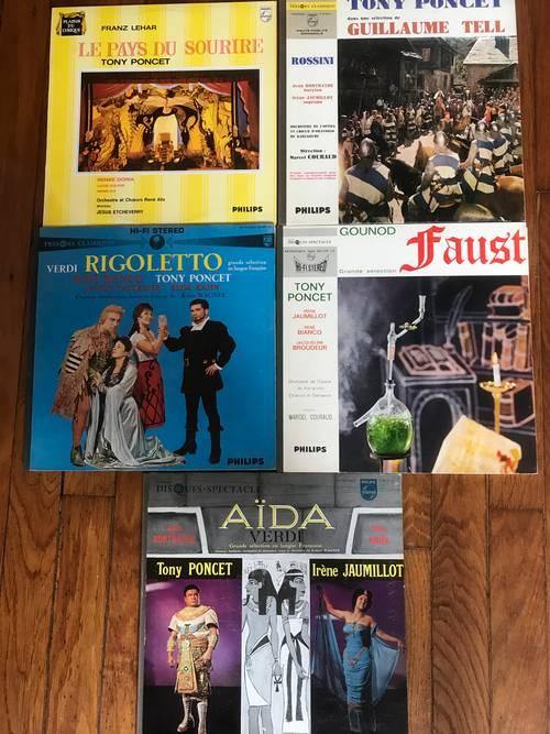 Vends lot de disques 33t avec Tony Poncet