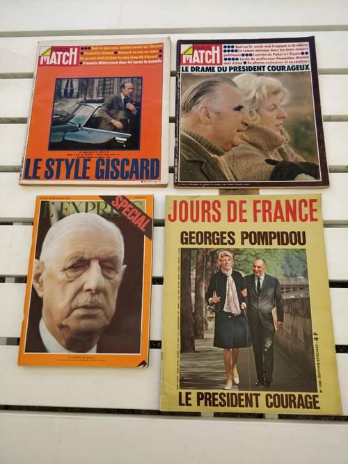 Vends Match/L'Express/Jours de France présidents République