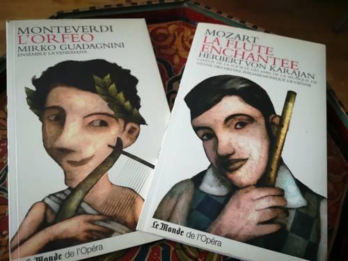 Je vends des livrets CD: Mozart, Monteverdi, Grandes dames du jazz