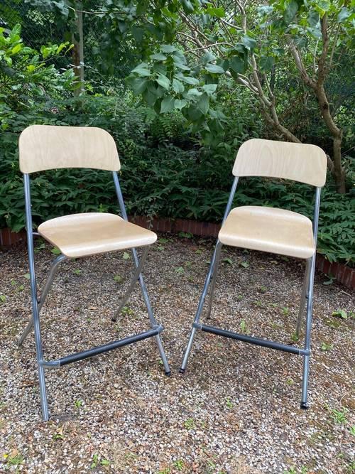 Vends lot de 2chaises de bar Ikea modèle Franklin