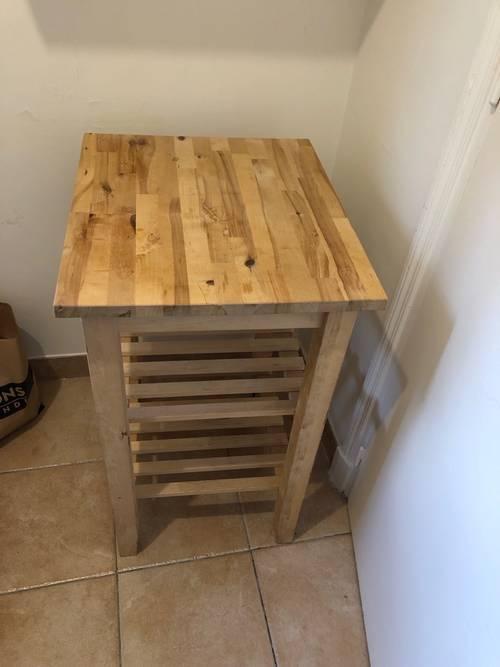 Vends meuble desserte en bois