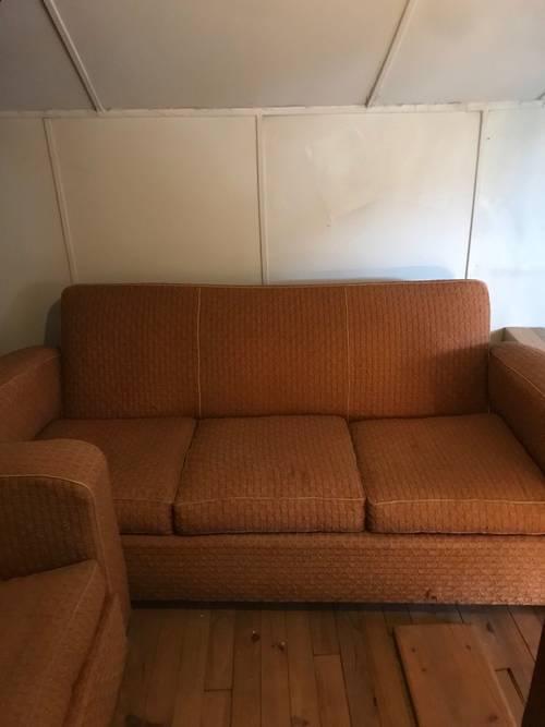 Affaire art deco canapé 3places et 2fauteuils en tissu