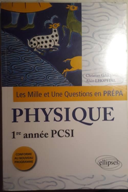 Livre de physique, prépa PCSI