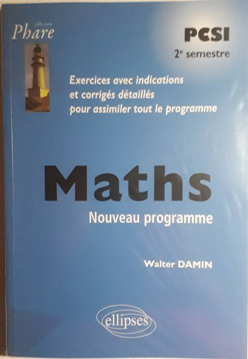 Livre de maths, prépa PCSI (deuxième semestre)